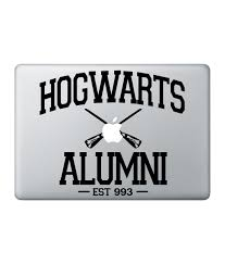 hogwarts alumni decal hogwarts alumni decal for macbook 15 macmerise creations llp