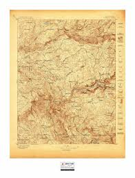 Yosemite Park Map Historic U S Topo Maps Of National Parks U2013 Burnt Point Lodge