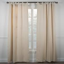 fireside tab top curtains natural color tab top curtains are one