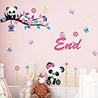 stickers panda chambre bébé amazon fr panda stickers muraux décorations murales bébé