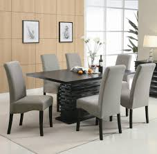 Grey Fabric Dining Room Chairs Clark Tufted Back Fabric Dining - Grey fabric dining room chairs