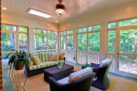 design ideas leather camel saddle brown in cozy eclectic sunroom
