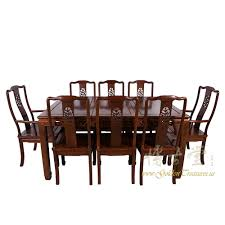 rosewood dining room furniture chinese antique rosewood dining table w 8 chairs set 17lp38