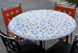 Replace Glass On Patio Table by Diy Patio Table Tile Round Coffee Glass Stone By Shattered For