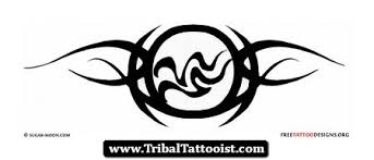 tribal aquarius tattoo design
