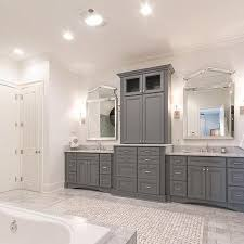 gray bathroom cabinets office table