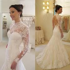 wedding dresses open back buy modern mermaid wedding dress scoop court lace