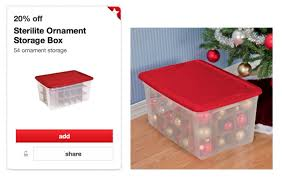 target sterilite ornament storage box only 6 79 reg