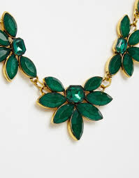 green emerald necklace images Lyst little mistress emerald stone collar necklace in green jpeg