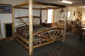 Cheap Log Bed Frames Bent Branch Canopy Log Bed Barn Wood Furniture Rustic Barnwood