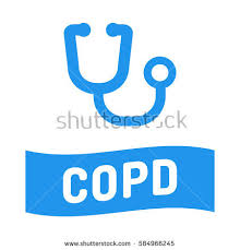 copd ribbon copd chronic obstructive pulmonary disease ribbon stock vector