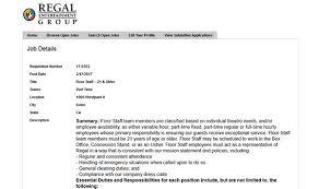 regal cinemas job application apply online