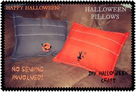 halloween pillows easy craft u2013 pinning junkie