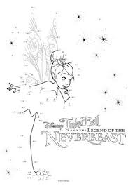 coloring pages connect dots tinkerbell coloring