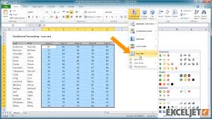 excel tutorial how to use icon sets with conditional formatting