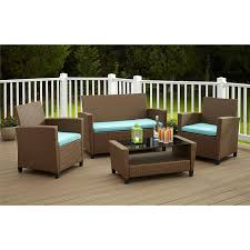 rolston wicker patio furniture cosco outdoor malmo 4 piece resin wicker patio conversation set