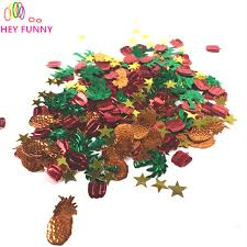 15g pack pumpkin confetti pineapple tree confetti hawaiian