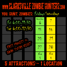 new york city halloween attractions clarksville zombie hunters zombie paintball hayride haunted