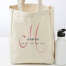 personalized tote bags monogrammed totes bed bath beyond