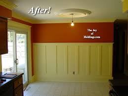 Pictures Of Wainscoting In Dining Rooms Before U0026 After Tall Craftsman Wainscoting In Dining Room The