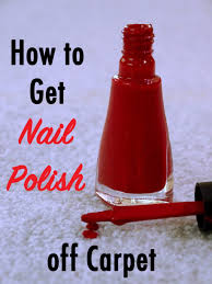 nail art how to getail polish out of carpet remover clean
