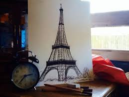 eiffel tower sketch by tetra005 on deviantart