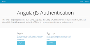 angularjs tutorial with web api token based authentication using asp net web api 2 owin and