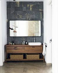 Modern Bathroom Ideas Pinterest An Alluring Natural Palette Of Slate Marble Wood And Metal Makes