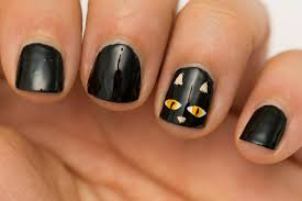 black cat halloween nails another heaven nails design 2016 2017