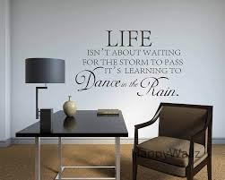 popular inspirational quote life buy cheap inspirational quote motivational quote wall sticker life is not about waiting for the storm to pass diy inspirational