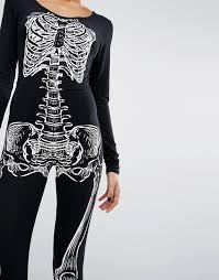 Skeleton Jumpsuit Missguided Missguided Halloween Skeleton Jumpsuit
