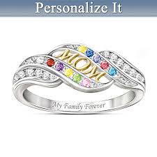 personalized birthstone rings personalized jewelry for personalized mothers rings
