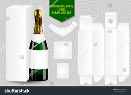 champagne transparent blank white label wine bottle package stock vector 353592485