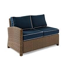 Crosley Furniture Outdoor Crosley Bradenton Outdoor Wicker Sectional Right Corner Loveseat