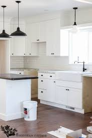 fixer blue kitchen cabinets fixer update cabinet hardware the wood grain cottage
