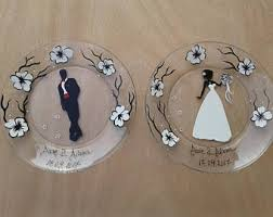 and groom plates commemorative plates etsy