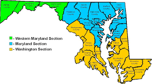 maryland map section map maryland section