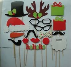 diy photo booth props mustache lip hat antler gift stick christmas