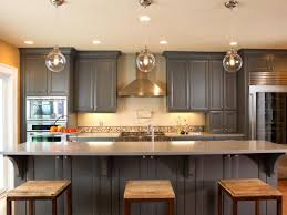 elegant kitchen ideas with dark grey painted kitchen cabinet
