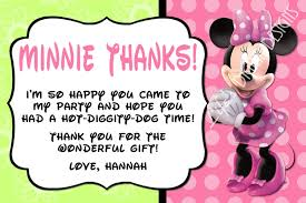 minnie mouse thank you cards minnie mouse thank you card green pink photo option