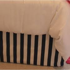 White Bed Skirt Queen Black And White Striped Bed Skirt King