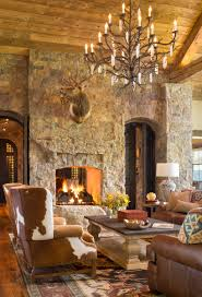 rustic colorado ranch home living room designed by design house