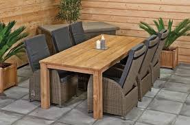 Patio Bar Height Table And Chairs by Outdoor Rustic Patio Table With 6 Wicker Chairs With Gray