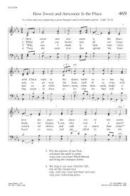 A Place Hymn Hymnal Rev Ed 469 How Sweet And Awesome Is The Place