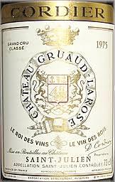 30 years of château gruaud 1975 château gruaud larose bordeaux médoc st julien