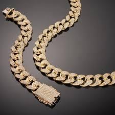 free set bracelet images Fade free 19mm cuban ice necklace and bracelet set joint jpg