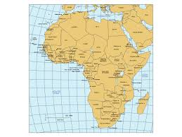 africa map countries and capitals africa powerpoint map with countries capital cities major cities