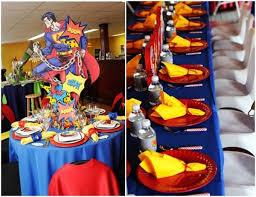 Superman Birthday Party Decoration Ideas Superman Kids Party Idea Party Birthday Ideas