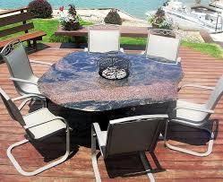 Patio Furniture Fire Pit Set - custom fire pit tables ideas