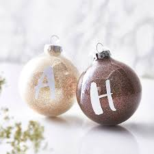 personalised initial glitter bauble by